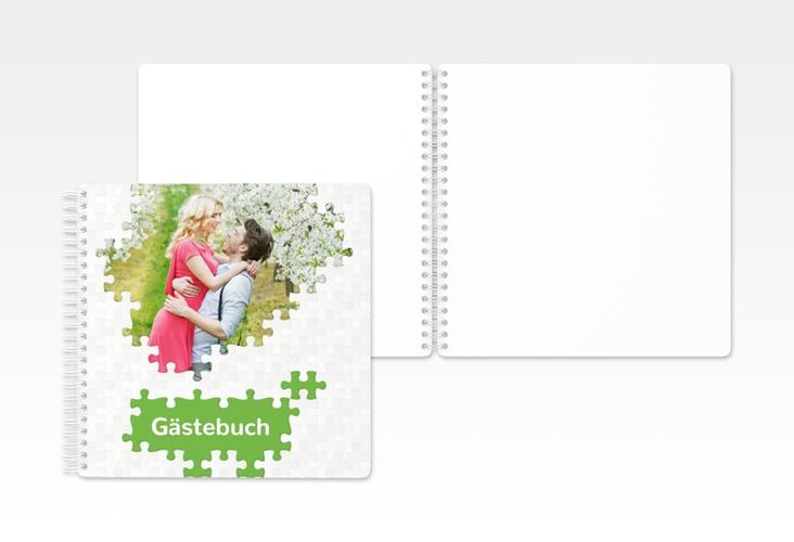 """Gästebuch Hochzeit """"Puzzle"""" Ringbindung"""