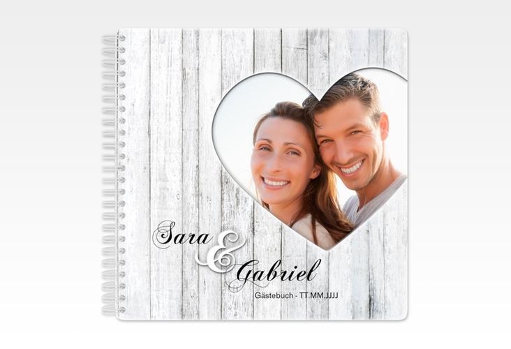 """Gästebuch Hochzeit """"Herz"""" Ringbindung"""