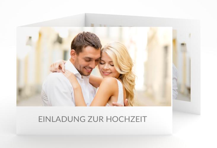 """Hochzeitseinladung """"Vista"""" A6 doppelt geklappt"""