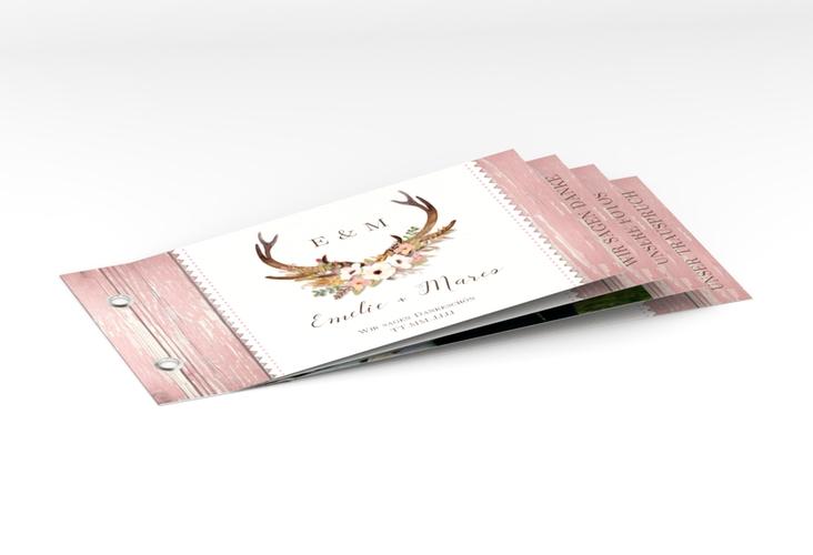 "Danksagungskarte Hochzeit ""Heimatjuwel"" Booklet rosa"