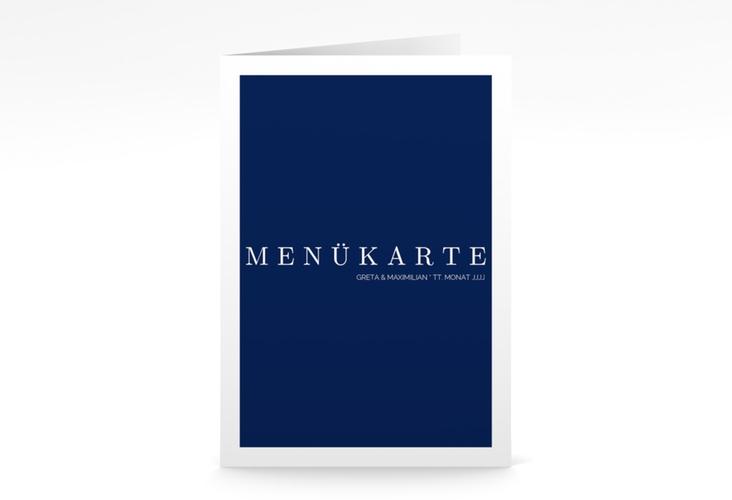 """Menükarte Hochzeit """"Simply"""" DIN A5 geklappt"""