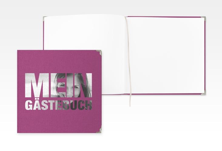 "Gästebuch Selection Geburtstag ""Numbers"" Leinen-Hardcover pink"
