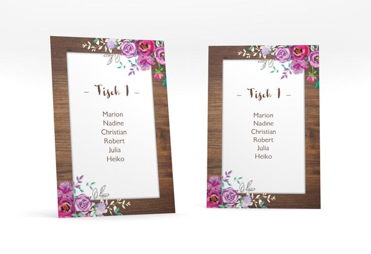 """Tischaufsteller Hochzeit """"Flourish"""" Tischaufsteller"""