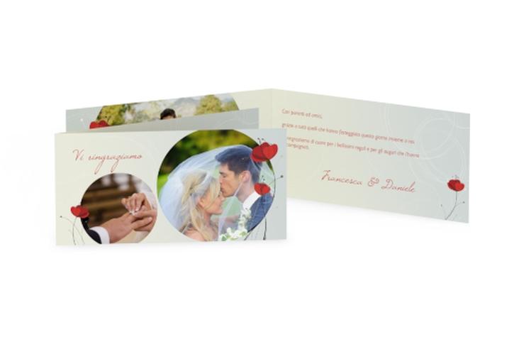 Ringraziamenti matrimonio collezione Madrid DIN lang Klappkarte