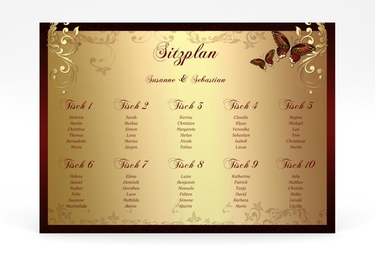 """Sitzplan Poster Hochzeit """"Toulouse"""" 70 x 50 cm Poster"""