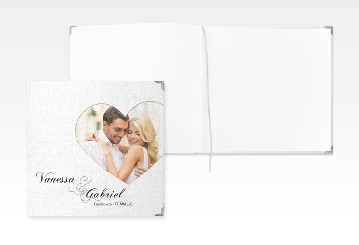"""Gästebuch Selection Hochzeit """"Sweetheart"""" Leinen-Hardcover weiss"""
