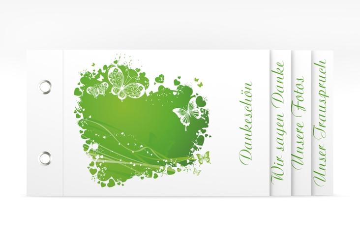 """Danksagungskarte Hochzeit """"Mailand"""" Booklet gruen"""