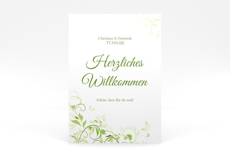 """Willkommensschild Poster """"Lilly"""" 50 x 70 cm Poster gruen"""