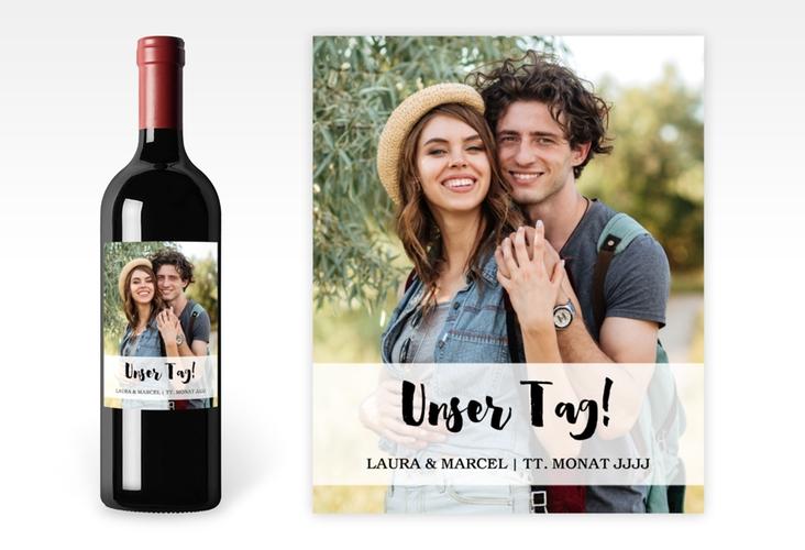 """Weinetikett zur Hochzeit """"Mirage"""" Etikett Weinflasche 4er Set"""