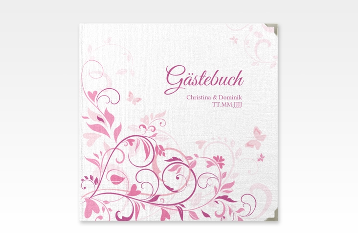 """Gästebuch Selection Hochzeit """"Lilly"""" Hardcover pink"""