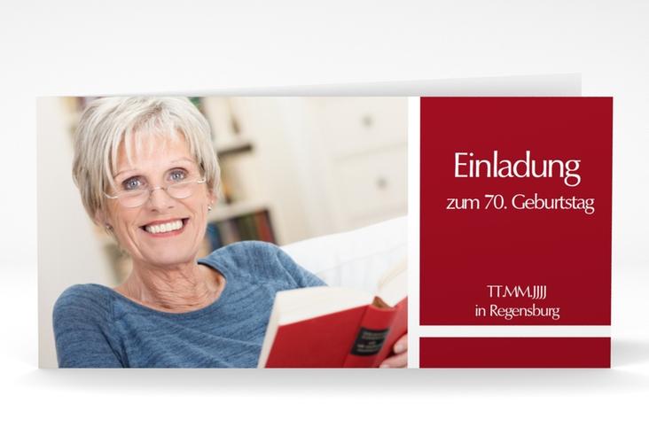 "Einladungskarte ""Gerd/Gerda"" DIN lang Klappkarte"