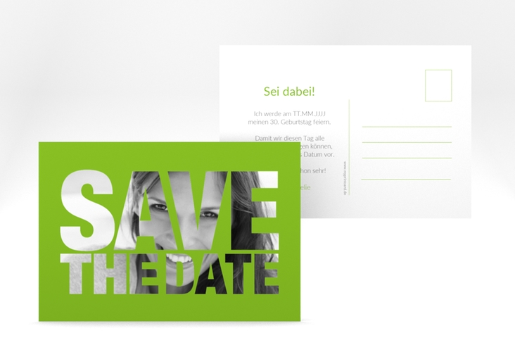 "Save the Date-Postkarte ""Numbers"" A6 Postkarte"
