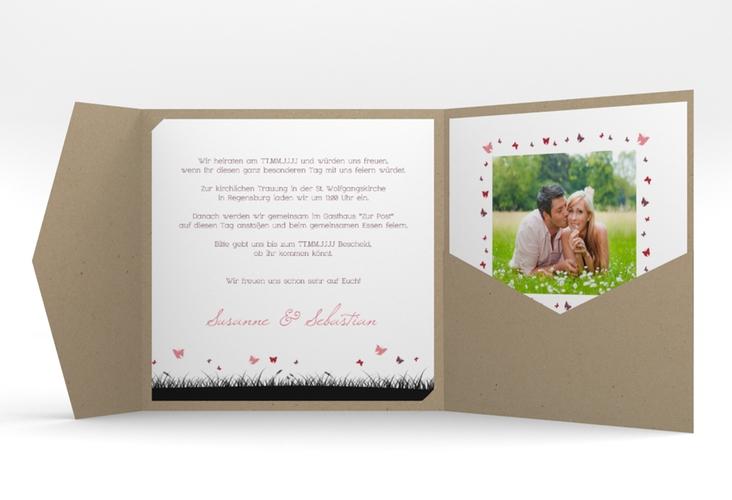 """Hochzeitseinladung """"Rouen"""" Pocketfold"""