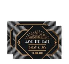"""Save the Date-Karte Hochzeit """"Gatsby"""""""