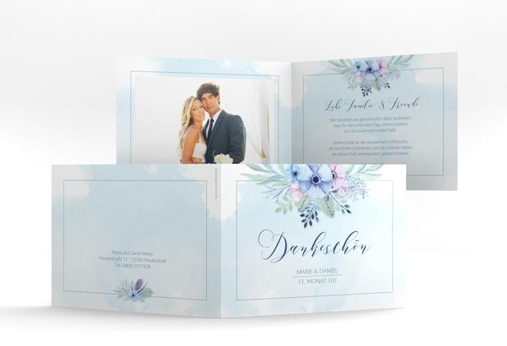 """Dankeskarte Hochzeit """"Surfinia"""" A6 Klappkarte Quer"""