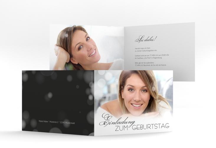 "Einladungskarte ""Luminous"" A6 Klappkarte Quer"