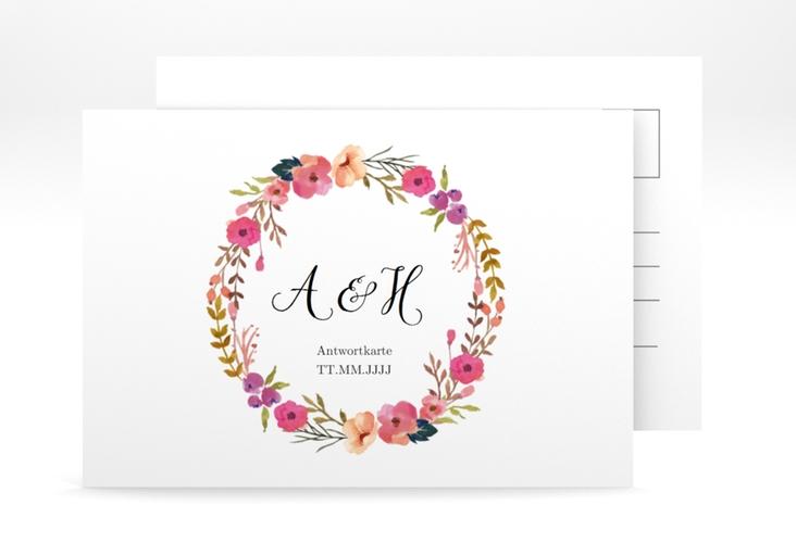 """Antwortkarte Hochzeit """"Fiore"""" A6 Postkarte"""