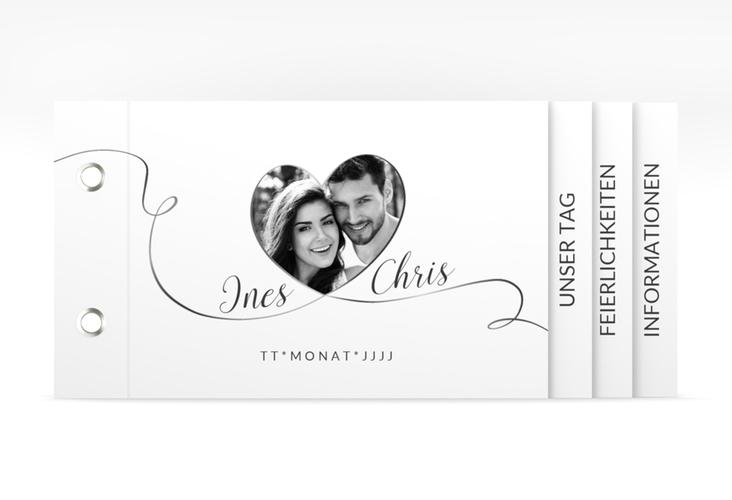 """Hochzeitseinladung """"Dolce"""" Booklet weiss"""