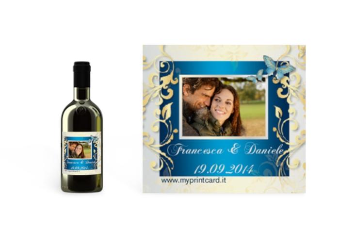 Etichette piccolo matrimonio collezione Tolosa Etikett Piccolo blu