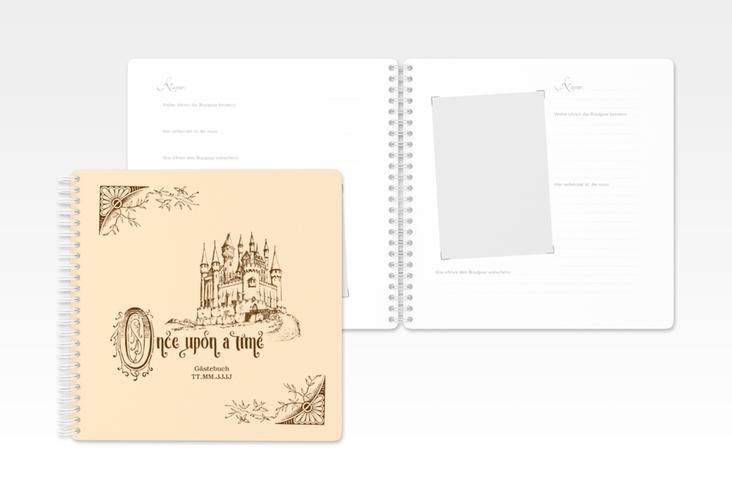"""Gästebuch Hochzeit """"Storybook"""" Ringbindung"""