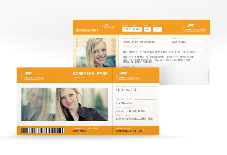"Danksagung Jugendweihe ""Ticket"" DIN lang"