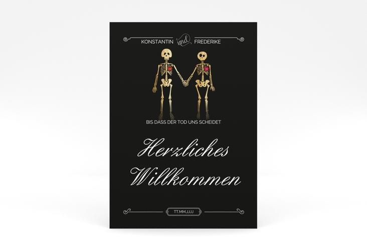 """Willkommensschild Poster """"Bones"""" 50 x 70 cm Poster schwarz"""