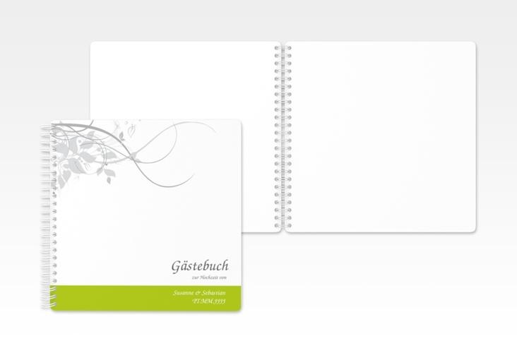 """Gästebuch Hochzeit """"Florenz"""" Ringbindung gruen"""