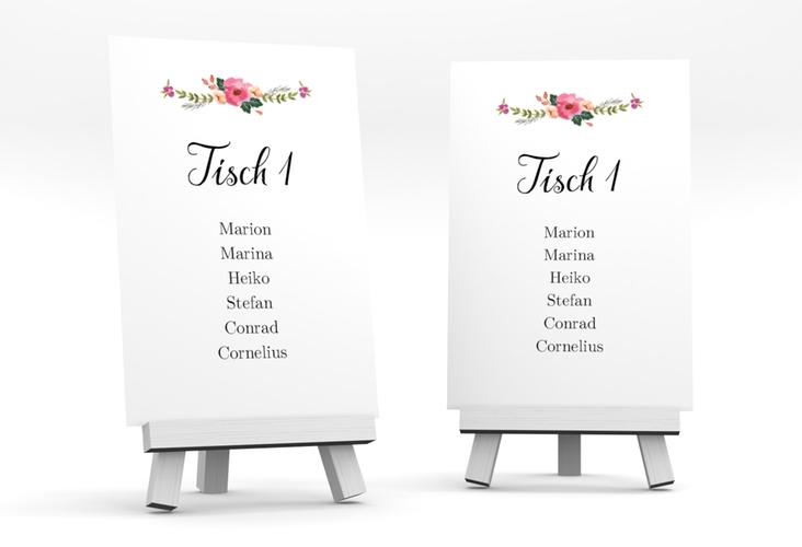 """Tischaufsteller Hochzeit """"Fiore"""" Tischaufsteller"""