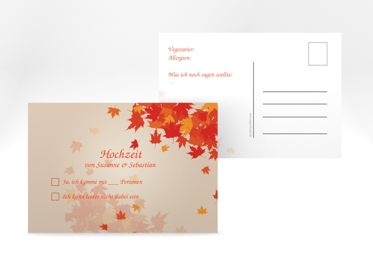 """Antwortkarte Hochzeit """"Zwiesel"""" A6 Postkarte"""