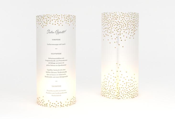 """Windlicht Menü Hochzeit """"Glitter"""" Windlicht weiss"""
