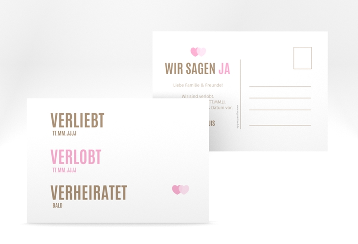 """Verlobungskarte Hochzeit """"Couple"""" A6 Postkarte"""