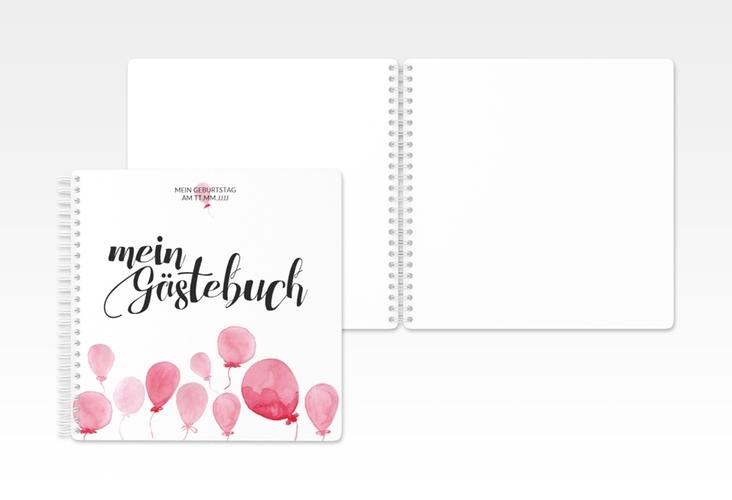 "Gästebuch Geburtstag ""Ballon"" Ringbindung"