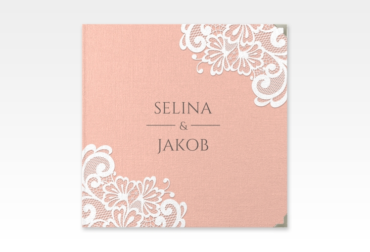 "Gästebuch Selection Hochzeit ""Vintage"" Leinen-Hardcover apricot"