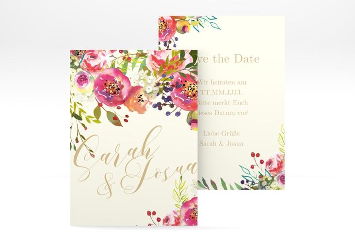 """Save the Date-Visitenkarte """"Flowerbomb"""" Visitenkarte"""