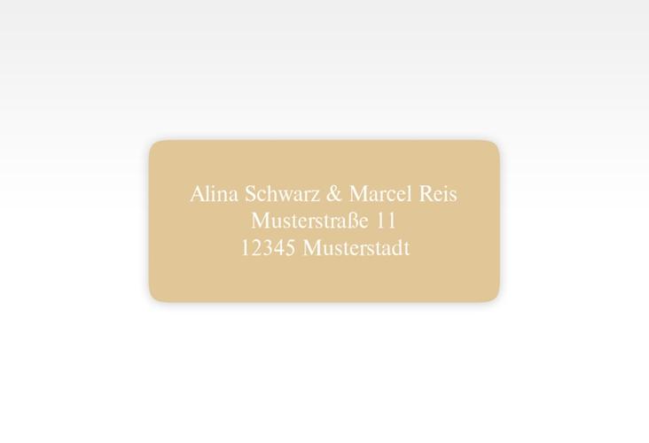 """Absenderetikett Hochzeit """"Classic"""" 45,7 x 21,2 mm beige"""