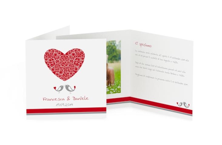 Inviti matrimonio collezione Mantova Quadratische Klappkarte