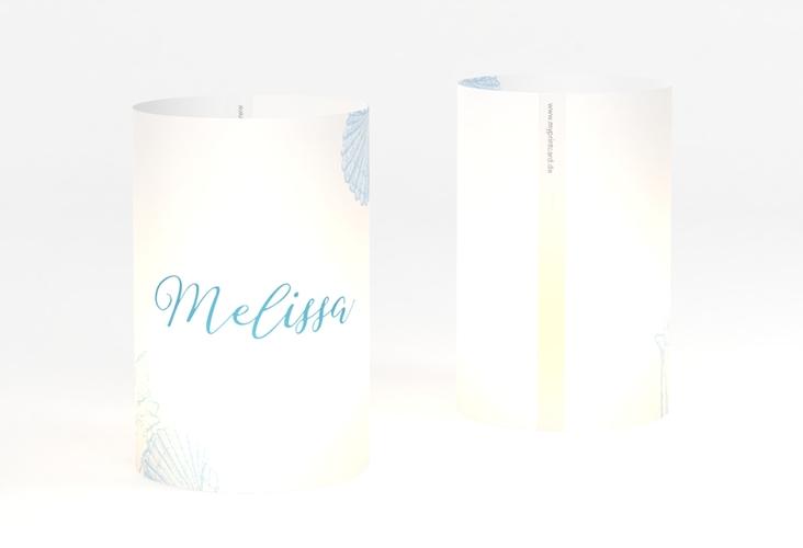 """Windlicht Hochzeit """"Muschelreich"""" Windlicht blau"""