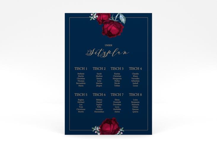 """Sitzplan Poster Hochzeit """"Peonies"""" 50 x 70 cm Poster"""