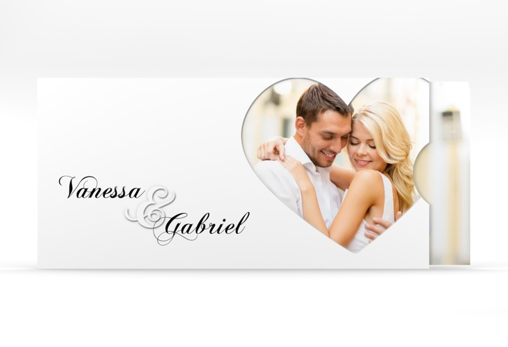 """Hochzeitseinladung """"Sweetheart"""" Einsteckkarte weiss"""