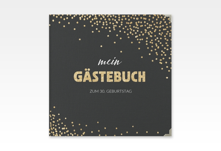 "Gästebuch Selection Geburtstag ""Glitzer"" Hardcover gold"