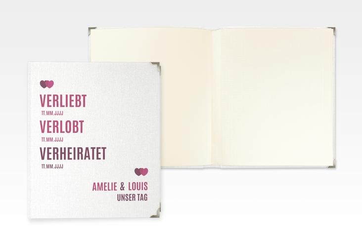 """Hochzeitsalbum """"Couple"""" 21 x 25 cm pink"""