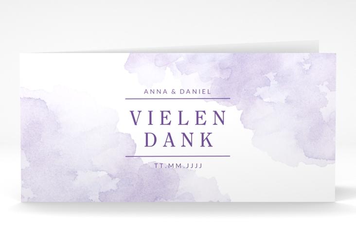"Dankeskarte Hochzeit ""Blush"" DIN lang Klappkarte lila"