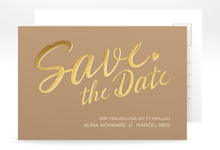 "Save the Date-Postkarte ""Glam"" A6 Postkarte"