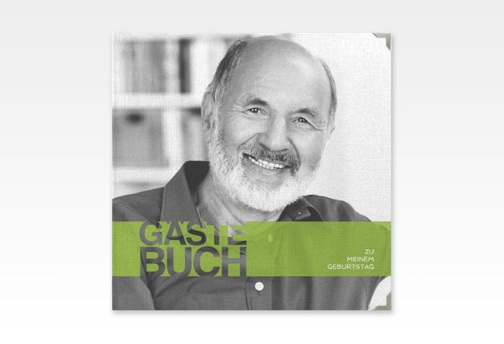 "Gästebuch Selection Geburtstag ""Banderole"" Hardcover gruen"