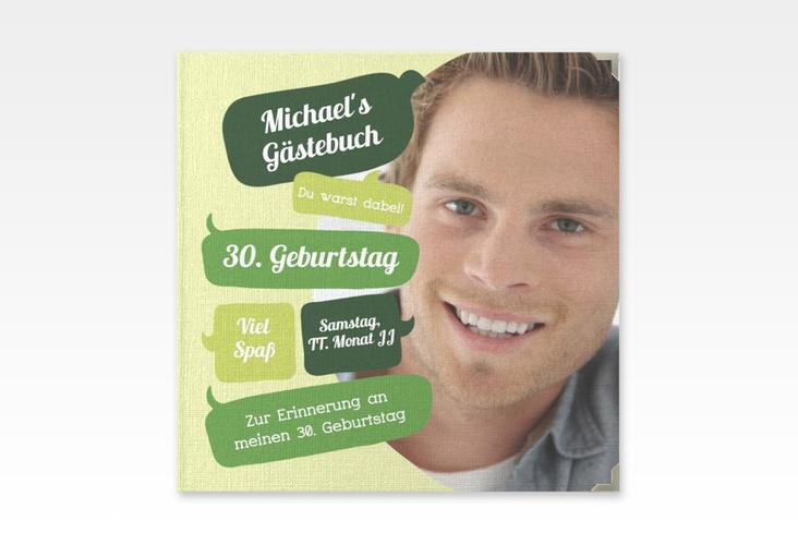 "Gästebuch Selection Geburtstag ""Whatsup"" Leinen-Hardcover gruen"