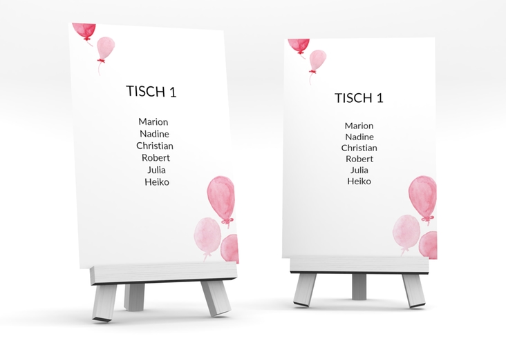"""Tischaufsteller Hochzeit """"Luftkuss"""" Tischaufsteller"""