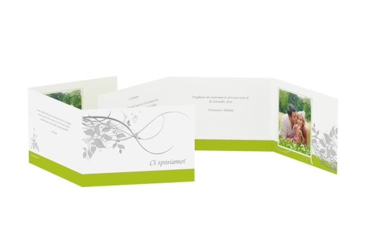 Inviti matrimonio collezione Firenze A6 doppelt geklappt verde