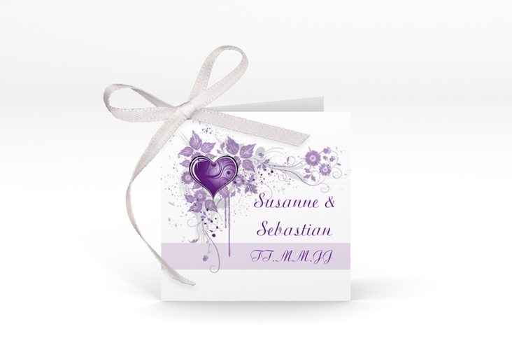 "Geschenkanhänger Hochzeit ""Triest"" Geschenkanhänger 10er Set lila"