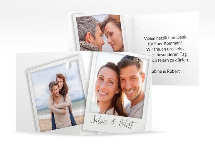 """Geschenkanhänger Hochzeit """"Portrait"""" Geschenkanhänger 10er Set weiss"""