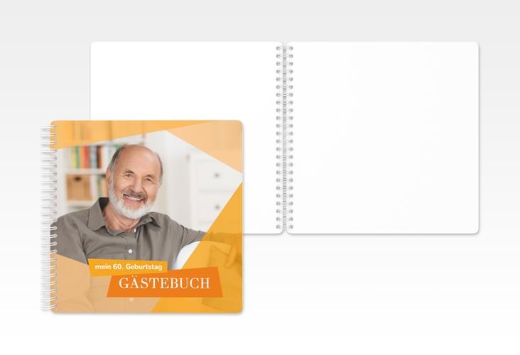 "Gästebuch Geburtstag ""Shapes"" Ringbindung orange"